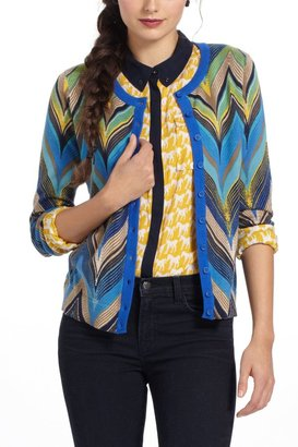 Anthropologie Seared Chevrons Cardigan