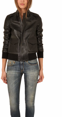 R 13 Leather A-2 Flight Jacket