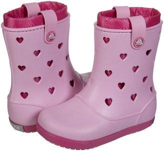 Crocs Crocband Airy Hearts Boot - Carnation/Fuchsia-J3