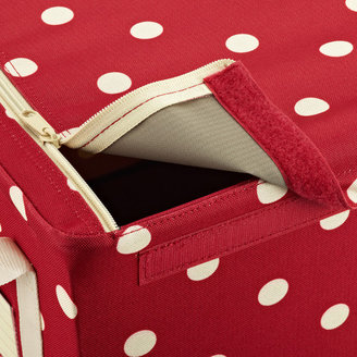 Container Store Ruby Dots Fabric Storage Boxes