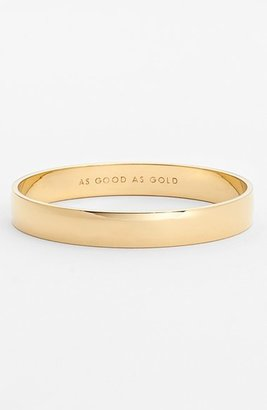 Women's Kate Spade New York 'Idiom - Good As Gold' Bangle $48 thestylecure.com