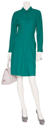 L'Wren Scott LWren Scott Emerald Button Front Desss with Pockets