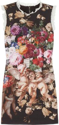 Dolce & Gabbana Printed stretch-silk mini dress