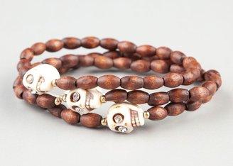 Full Tilt 3 Piece Ivory Skull Bracelet