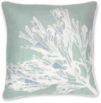 Williams-Sonoma Sea Flower Applique Pillow Cover