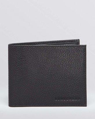 Longchamp Le Foulonne Bi-Fold Wallet with Coin Pouch $160 thestylecure.com