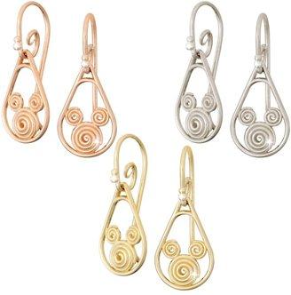 Disney Gold Swirl Mickey Mouse Earrings 18K