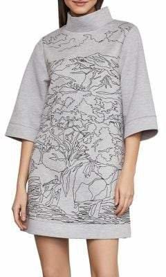 BCBGMAXAZRIA Neoprene Funnel Neck Tunic Dress