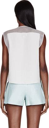 3.1 Phillip Lim Ivory Embellished Silk Blouse