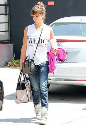Lovers & Friends Lovers and Friends Merci White Tee as seen on Jessica Alba and Julianne Hough