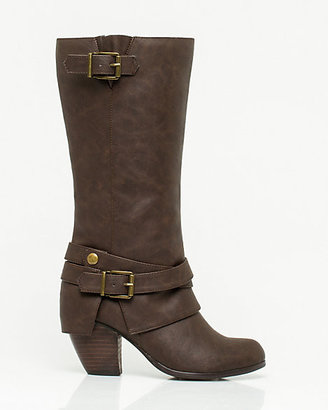 Le Château Faux Leather Block Heel Boot
