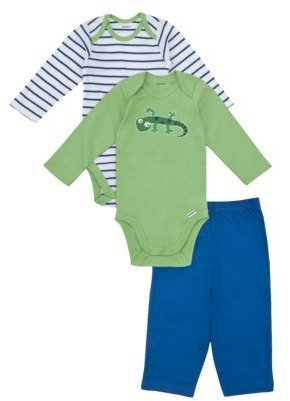 GE Gerber Onesies® Newborn Boys' 3 Piece Lizard Set - Green/Blue