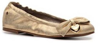 Just Cavalli Metallic Suede Bow Flat