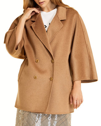 Marina Rinaldi Plus Size Natascia Double-Breasted Wool Coat