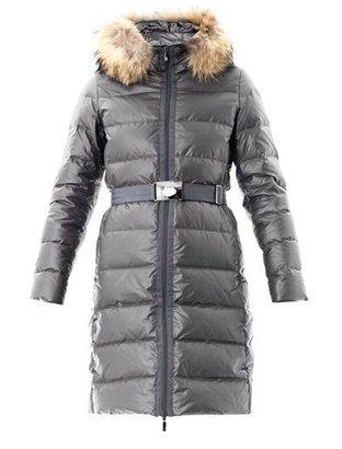 Moncler Nantes fur trim down coat