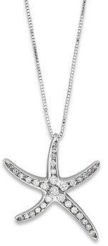 Bloomingdale's Diamond Starfish Pendant in 14K White Gold, 0.25 ct. t.w.