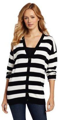 Chaus Women's Stripe Button Front Cardigan