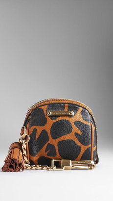 Burberry Animal Print Leather Tassel Coin Purse