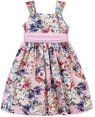 Jayne Copeland Girls' 2-Piece Floral-Print Dress & Bolero Set