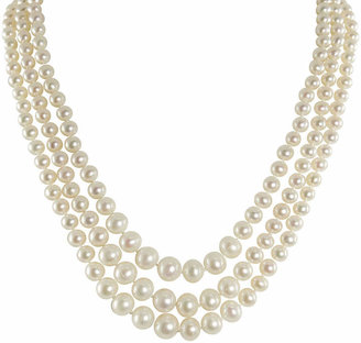 FINE JEWELRY Cultured Freshwater Pearl Graduated 3-Strand Necklace