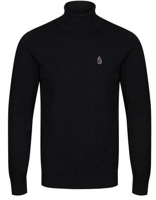 Luke 1977 Polesium Black Knitted Roll Neck