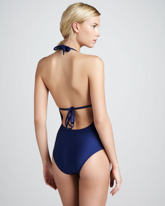 Splendid Bayside Cutout One-Piece Swimsuit