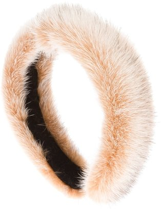 Laura Apsit Livens mink fur headband