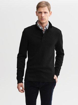 Banana Republic Quilted four-button pullover