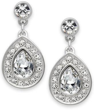 Swarovski Earrings, Rhodium-Plated Crystal Drop Earrings