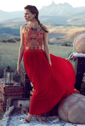 Anthropologie Rubied Dusk Dress
