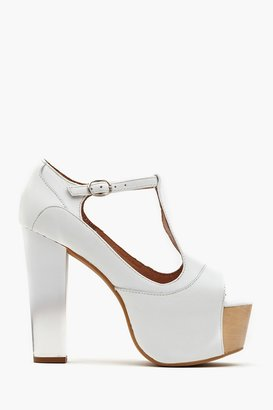 Nasty Gal Foxy Platform - White Ombre