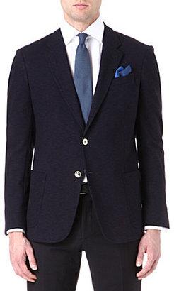 Armani Jersey slub metal-buttons blazer