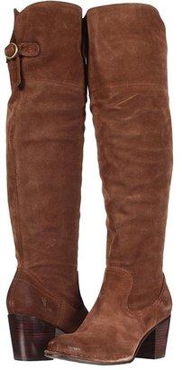 Frye Lucinda Slouch (Dark Brown Suede) - Footwear