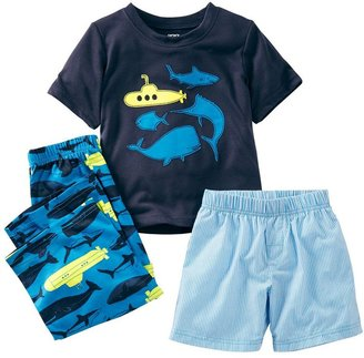 Carter's striped submarine pajama set - toddler