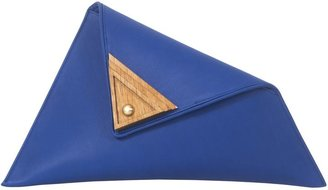 Georgina Skalidi Blue Large Asymmetric Clutch Bag