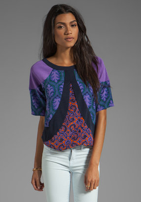 Tracy Reese Violet Medallions Combo Blouse
