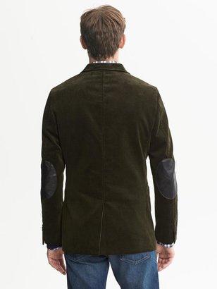 Banana Republic Tailored-Fit Green Cord Blazer