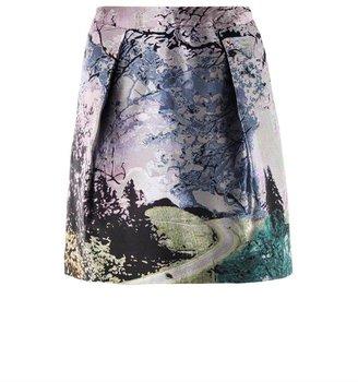 Mary Katrantzou Tullie Dijon tree-print skirt