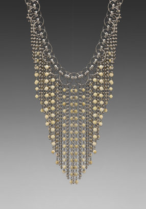 Dannijo Glynn Necklace in Ox Silver/Bone