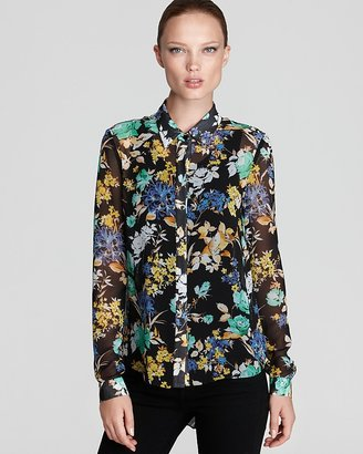 Sachin + Babi Floral Blouse - Rimini with Pleated Back