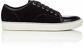 Lanvin Men's Cap-Toe Suede & Leather Sneakers - Black
