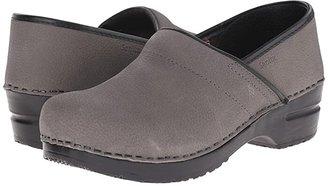Sanita Professional Oil (Black Textured Oil) Women's Clog Shoes