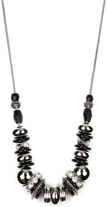 Nine West Necklace, Jet Bead Frontal Necklace