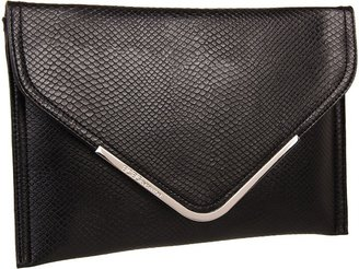 BCBGeneration Nadia Snake Emboss Clutch (Black) - Bags and Luggage