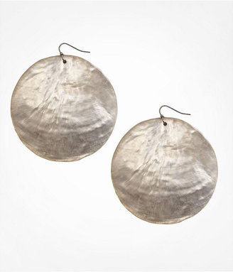 Express Shimmering Shell Disc Earrings