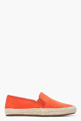 Sigerson Morrison BELLE Orange Casual Canvas espadrilles