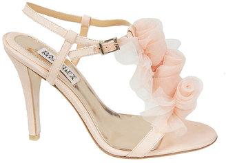 Badgley Mischka Cissy High-Heel T-Strap Sandals