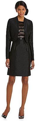 Tahari by Arthur S. Levine Tahari by ASL Shantung & Lace Jacket Dress