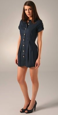 Charlotte Ronson Pegged Shirtdress