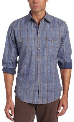 Wrangler Men's Retro Western Dobby Plaid Shirt